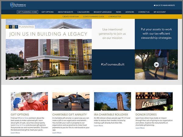 LeTourneau University's Award Winning Website